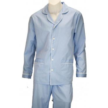Pijamas de Hombre Clásico Frente Abierto de la Tela de Algodón y Franela - Grino