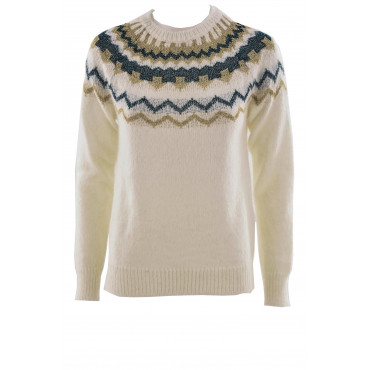 Sweater Women's ZigZag lurex at the neckline