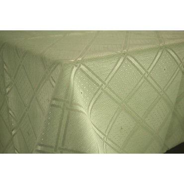 Mantel de cuadros jaquard resistente a las manchas