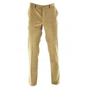 Pantalones De Hombre Clásico De Terciopelo De La Costilla Bolsillos Laterales