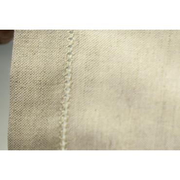 Nappe Rectangulaire x12 Blanc de la Toile Médiévale MistoLino 180x250 réf. Ourlet Jour sans serviettes de table