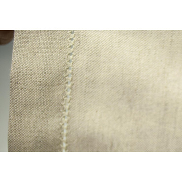 Rectangular Tablecloth x12 Ecru Medieval Canvas MistoLino 180x250 ref. Hemstitch without napkins