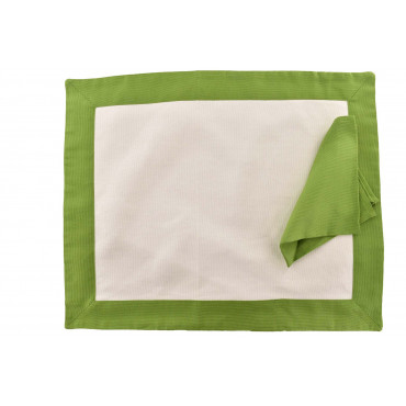 Placemat American style placemat with Panama cotton napkin with flounce finish