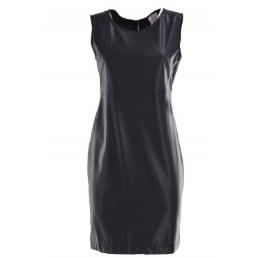 Woman Black Sheath Dress...