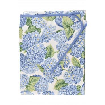 Panama Hydrangea Hydrangea Floral Print Tablecloth
