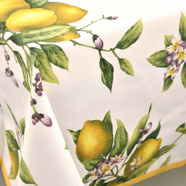 Tablecloth in Panama Lemons of Positano