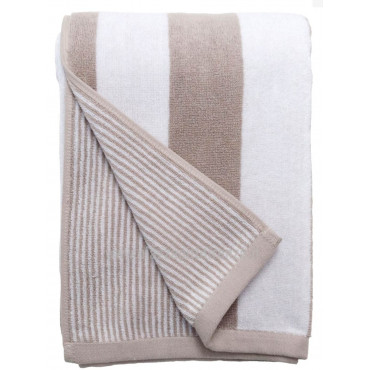 Doubleface Striped Sponge Towels Shabby Chic Righine - Lumiere