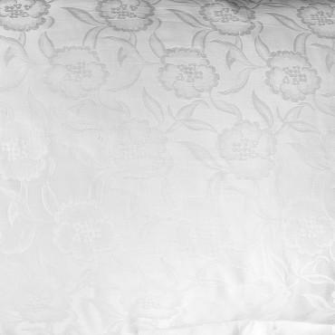 Lenzuola Lusso Raso di Cotone Jaquard Floreale Tintaunita