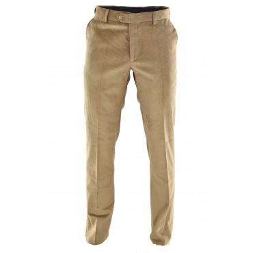 Pantaloni Uomo Velluto Coste Classico Tasche Laterali