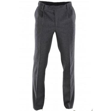 Pantaloni Uomo Classico Lana Invernale Tasche Laterali