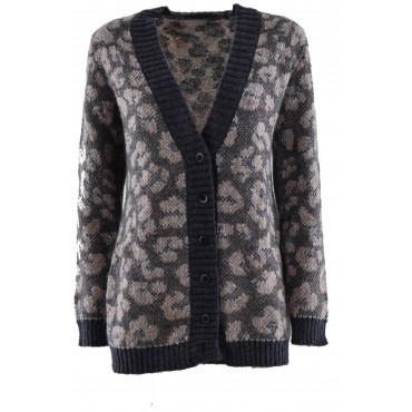 Knitted Cardigan ScolloV...
