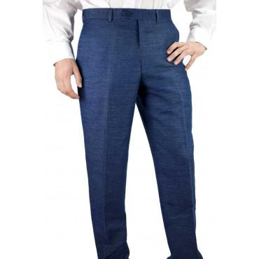 Pantaloni Uomo Classico Blu Inchiostro melange - Tasche Laterali - Frescolana 4Stagioni