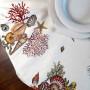Tovaglia Panama Coralli e Conchiglie stampa Marina