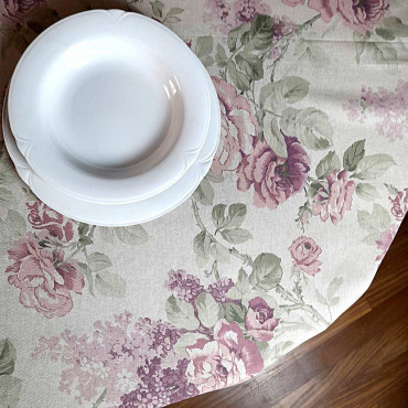 Panama Rose Sanderson Floral print tablecloth
