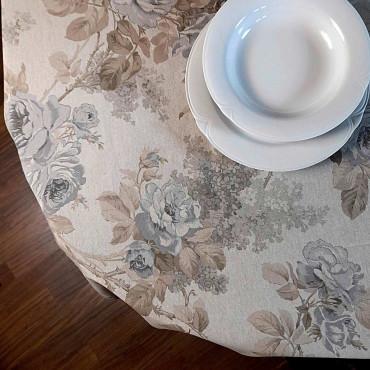 Tovaglia Panama Rose Sanderson stampa Floreale grigio