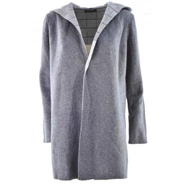 Long hooded cardigan Woman...