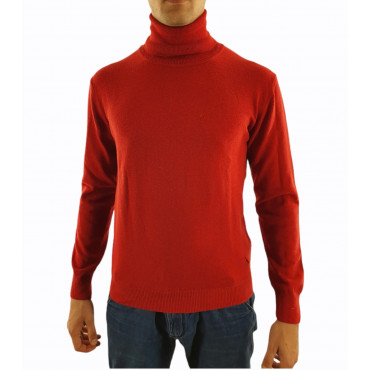 Men's sweater with high...