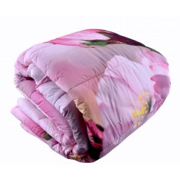 "Quilt "" Pink Floral Large..."