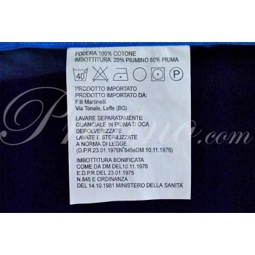 Cuscino Guanciale Piuma d'Oca Stampa Fotografica Delfini Azzurro 50x80 cm -  Camera da Letto