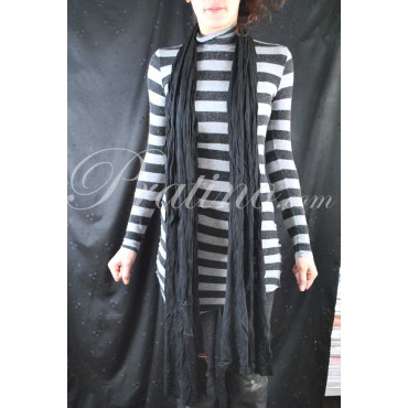 Laura Biagiotti Stola Sciarpa Lunga Nera 230x60 Morbida Viscosa -  Abbigliamento Donna