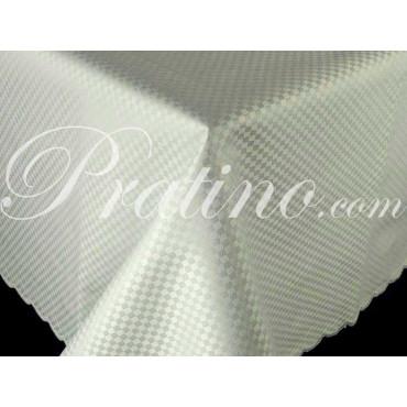 Rectangular Tablecloth x12 Light Green Cotton Satin Squares without Napkins 180x270 8063 - Manifattura Toscana Linen Table