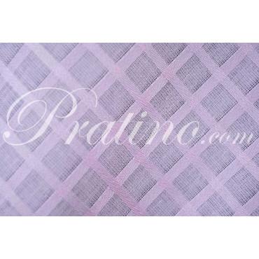 Mantel Rectangular x12 Cuadrados Algodón Organza Rosa Brillante +12 Servilletas 180x270 8071 - Mesa Lino Manifattura Toscana