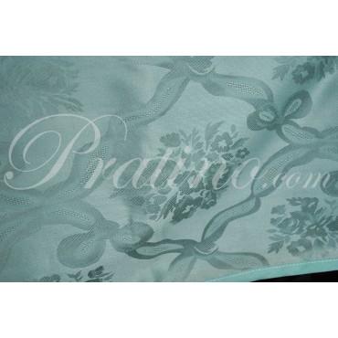 Rectangular Tablecloth x12 Sage Green Flanders Rhombus Bouquet without Napkins 180x270 8053 - Manifattura Toscana Linen Table