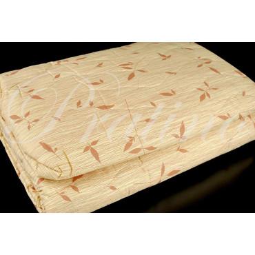 Copriletto Trapuntato Matrimoniale Beige Fantasia Bamboo Doubleface 260x270 Cotone Sogni Italy