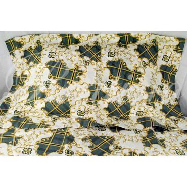 Copripiumino Singolo Verde Fantasia Arabesque 155x200 +1Federe