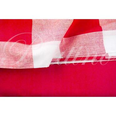 Lenzuola Matrimoniale 2Piazze Rosso Quadri 240x290 Sotto piano