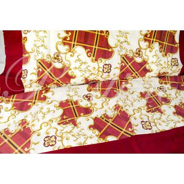 Lenzuola Matrimoniale Standard Rosso Arabesque 250x280 Sotto piano