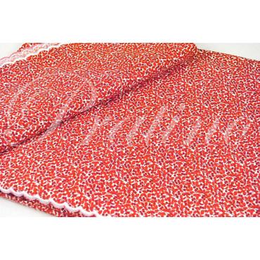 Completo Singolo 1Piazza Fiorellini Rosso 150x290 +1Federa sotto angoli 90x200