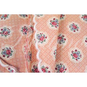 Completo Singolo 1Piazza Bouquet Rosa 140x280 +1Federa sotto angoli 80x190