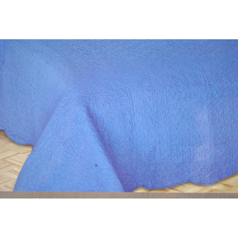 Couvre-lit matelassé Unique Tintaunita Bleu 180x260 de Couette Coton