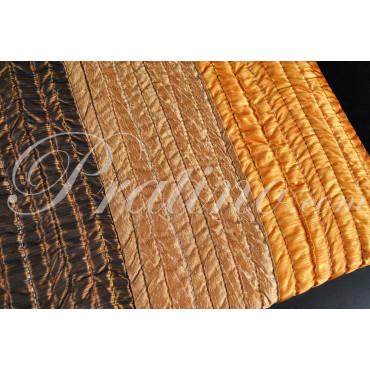 Couvre-lit matelassé Unique les Lignes Orange Jaune Marron 180x260 Taffetas
