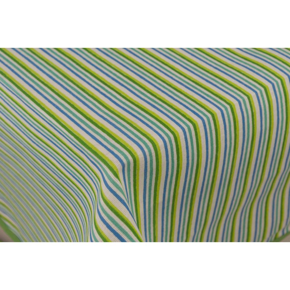 Tovaglia Rettangolare x12 Azzurro Cornice 270x180 +12 Tovaglioli