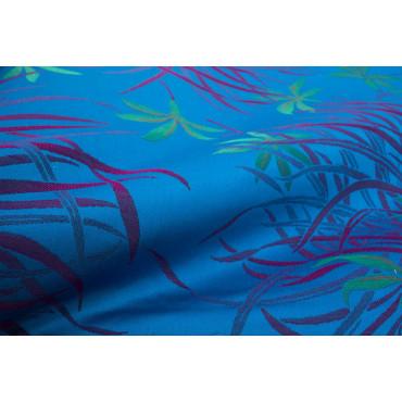 Copriletto Matrimoniale Raso Cotone Bluette Fucsia Orchidee 270x270 Oasi rif. Smerlo
