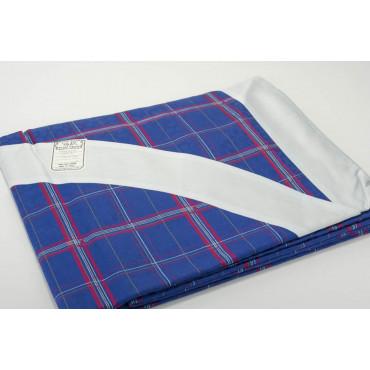 Double couvre-lit en Coton en Satin Bleu royal Fuchsia Plaid Panneaux 270x270 Conseil