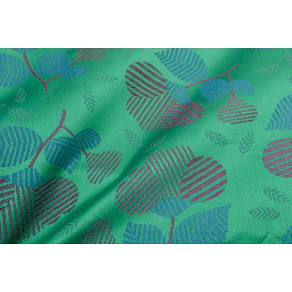 Double couvre-lit Satin de Coton Vert, Fuchsia, Turquoise Fleurs 270x270 Isabel Rebrodé