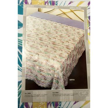 Double couvre-lit en Coton Multicolore Fleurs Lignes 270x270 Syrie Rebrodé