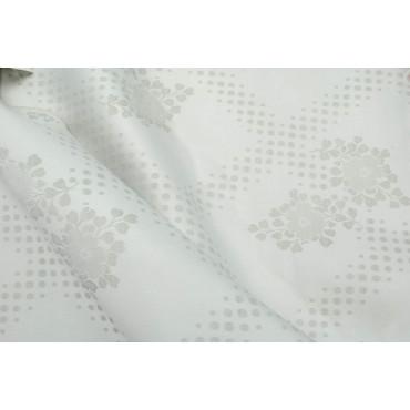 Double couvre-lit Satin de Coton Fleurs Vertes 270x270 Erika réf. Rebrodé