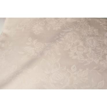 Copriletto Copritutto Matrimoniale Raso Cotone Rosa Bouquet 270x270 rif. Squadrata