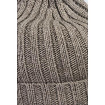 Cappello+Sciarpa maglia in misto Cachemire - 200x70 - Grigio Chiaro e Scuro, Blu, Azzurro, Marrone