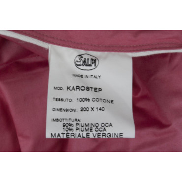 Salpi 90% Piumino d'Oca Singolo Rosa 140x200 - Trapuntatura aperta - Piumone 1 Piazza