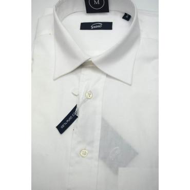 Camicia Uomo SlimFit Elasticizzata - Bianco, Blu, Bordeaux, Beige, Lillà, Celeste, Rosso - S M L XL XXL