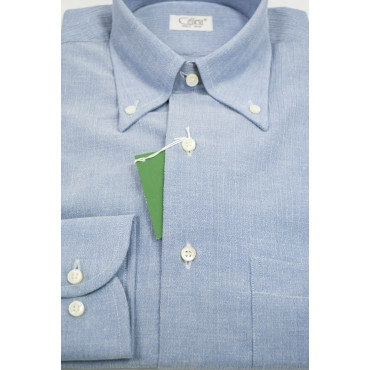 CASSERA Shirt 15 38 Céleste en Relief ButtonDown