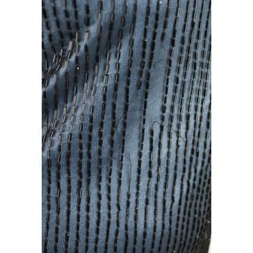Soprabito Donna Lungo ai piedi Elegante M Azzurro Nero - Pioggia di tubini