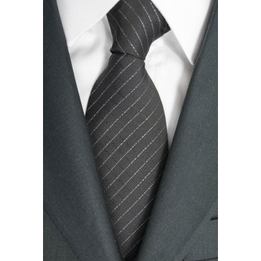 Krawatte Breit Grau Regimental Rosa - 100% Reine Seide - Made in Italy