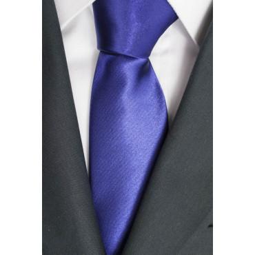 Cravatta Viola Tintaunita Raso Lucido - 100% Pura Seta - Made in Italy