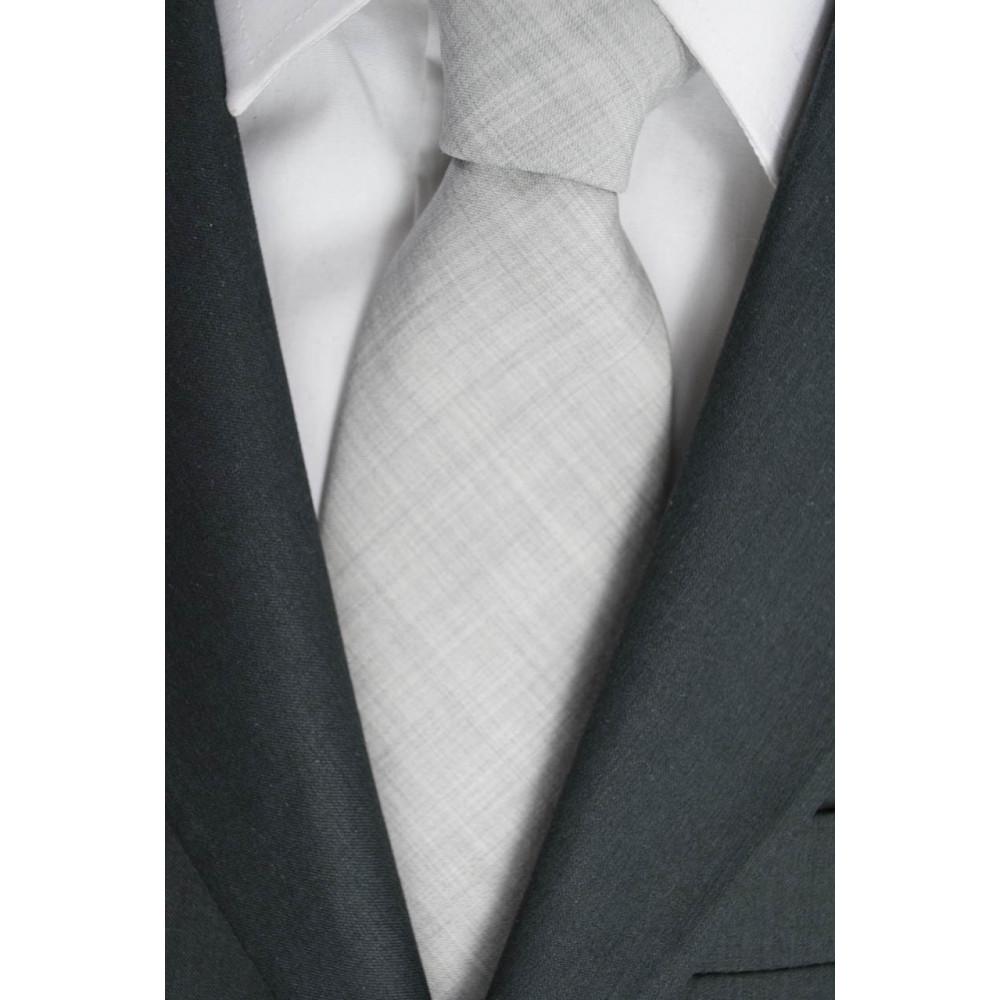 Cravatta Grigio Chiato FilaFil Opaco - 100% Pura Lana - Made in Italy